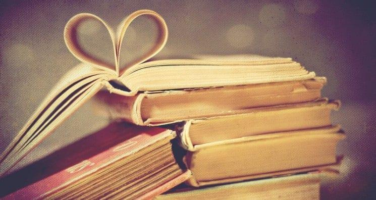pagine libro a cuore