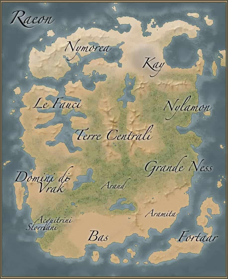 mappa di raeon verso le nebbie