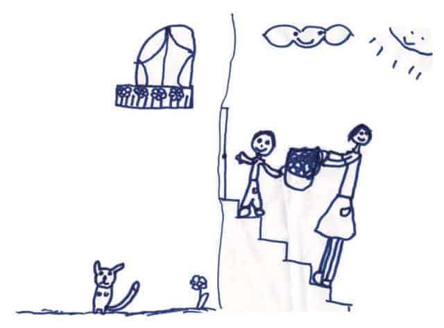 disegno mamma figlio ellamorale