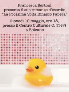 Centro Culturale Trevi a Bolzano presentazione francesca bertoni