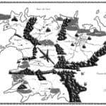 mappa del continente vie di Trydes