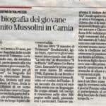 Il maestro di Tolmezzo recensione Messaggero Veneto