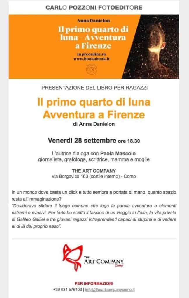 L'autrice presenta il libro con Paola Mascolo The Art Company di Como