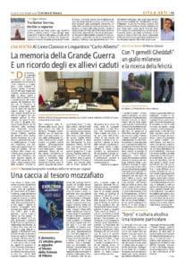 Corriere di Novara la recensione i gemelli Gheddafi