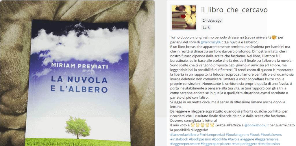 il libro che cercavo recensione La nuvola e l'albero