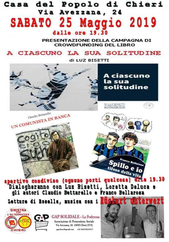Presentazione della campagna di crowdfunding del libro di Luz Bisetti A ciascuno la sua solitudine