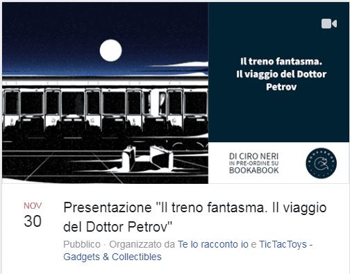 terzo evento di presentazione del libro Il treno fantasma Il viaggio del Dottor Petrov