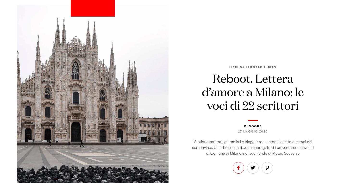 Vogue Italia oggi parla di Reboot