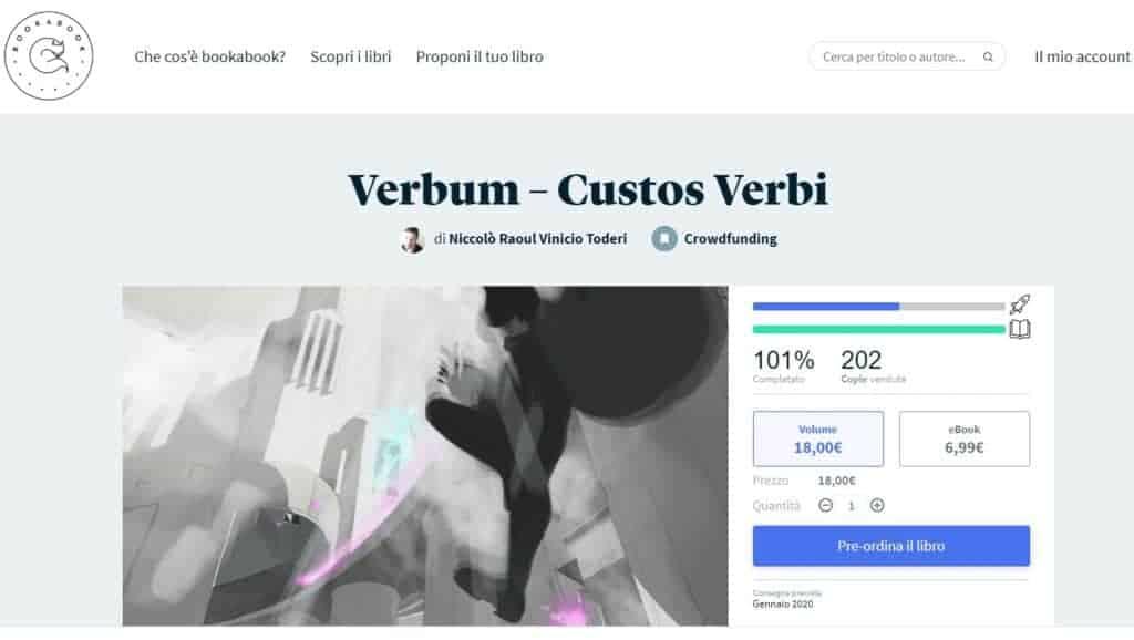 Custos Verbi verrà pubblicato da bookabook