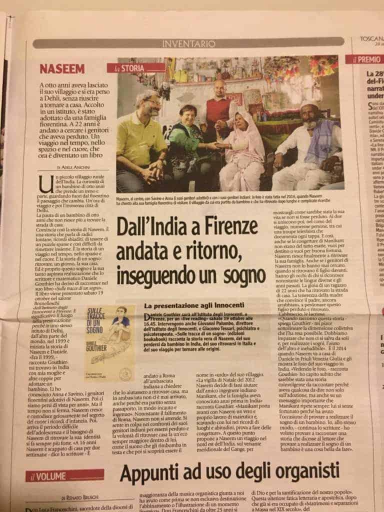 Adele Anichini presenta su Toscana Oggi il libro Sulle tracce di un sogno