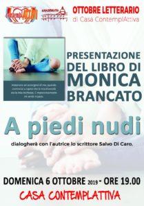 Presentazione del romanzo d'esordio di Monica Brancato dal titolo A piedi nudi