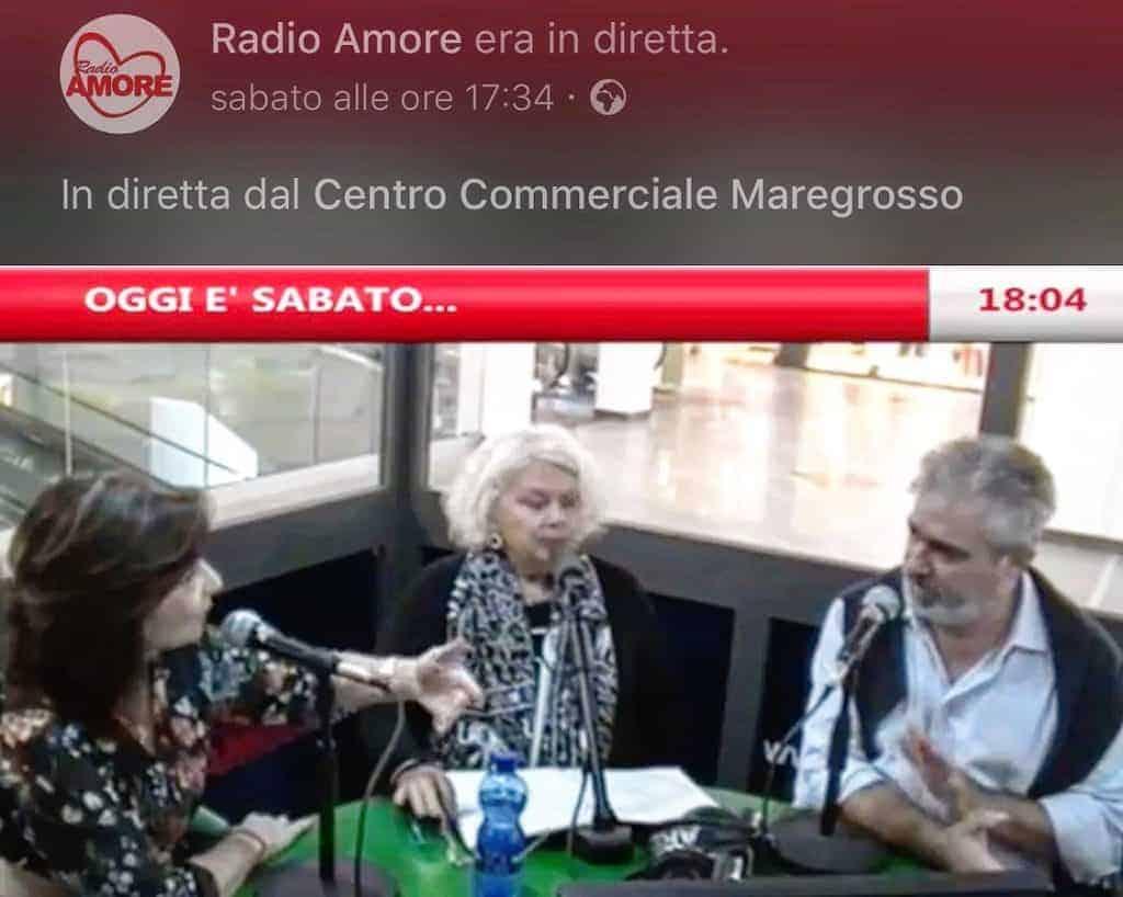 Intervista radiofonica di Radio Amore in diretta dal Centro Commerciale Maregrosso di Messina