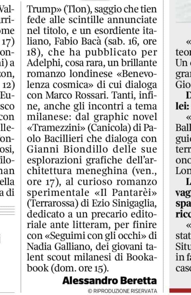 Corriere Milano segnalazione Seguimi con gli occhiBookpride