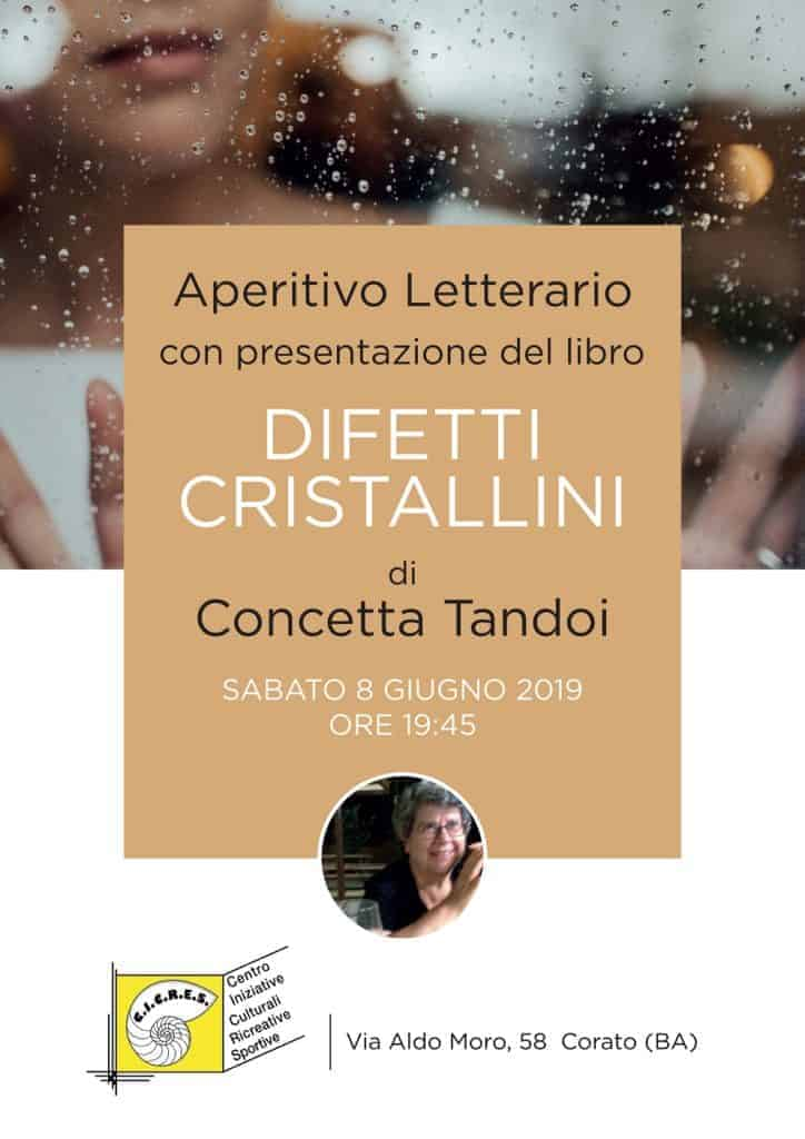 aperitivo letterario con presentazione del libro Difetti Cristallini
