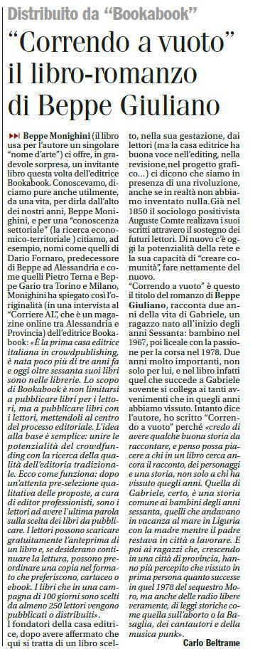L'articolo di Carlo Beltrame correndo a vuoto