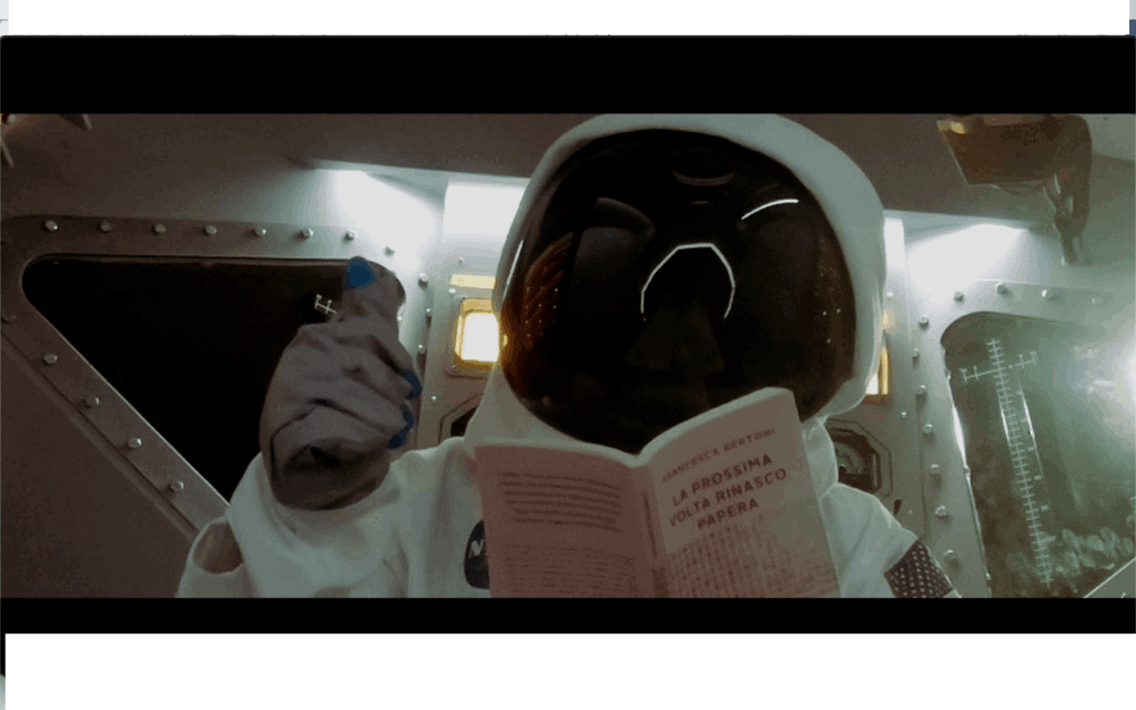 uomo sulla luna rinasco papera