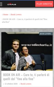 chiacchierata con gli amici di Radio Charlie