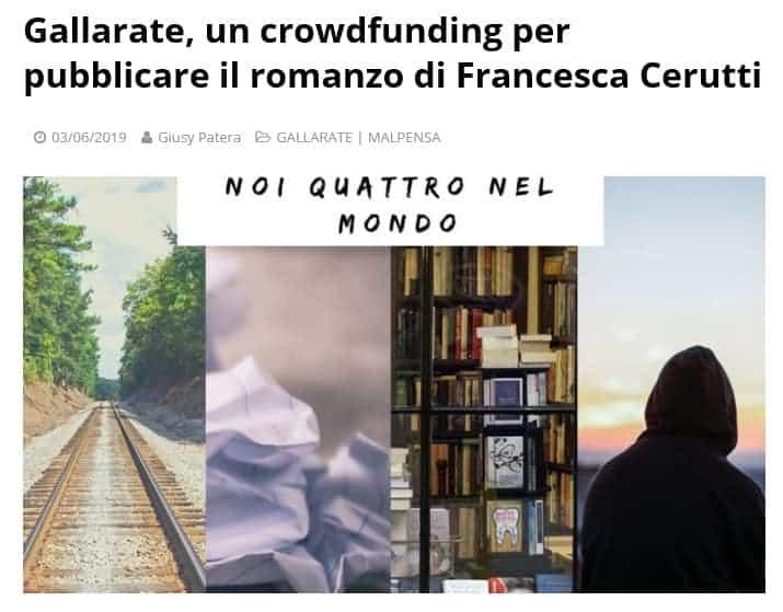 gallarate crowdfunding francesca cerutti