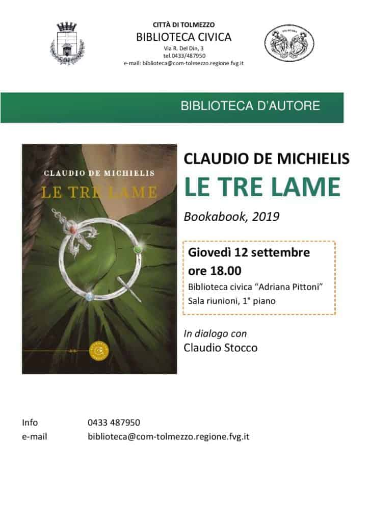 Biblioteca Comunale di Tolmezzo presentazione Le tre lame